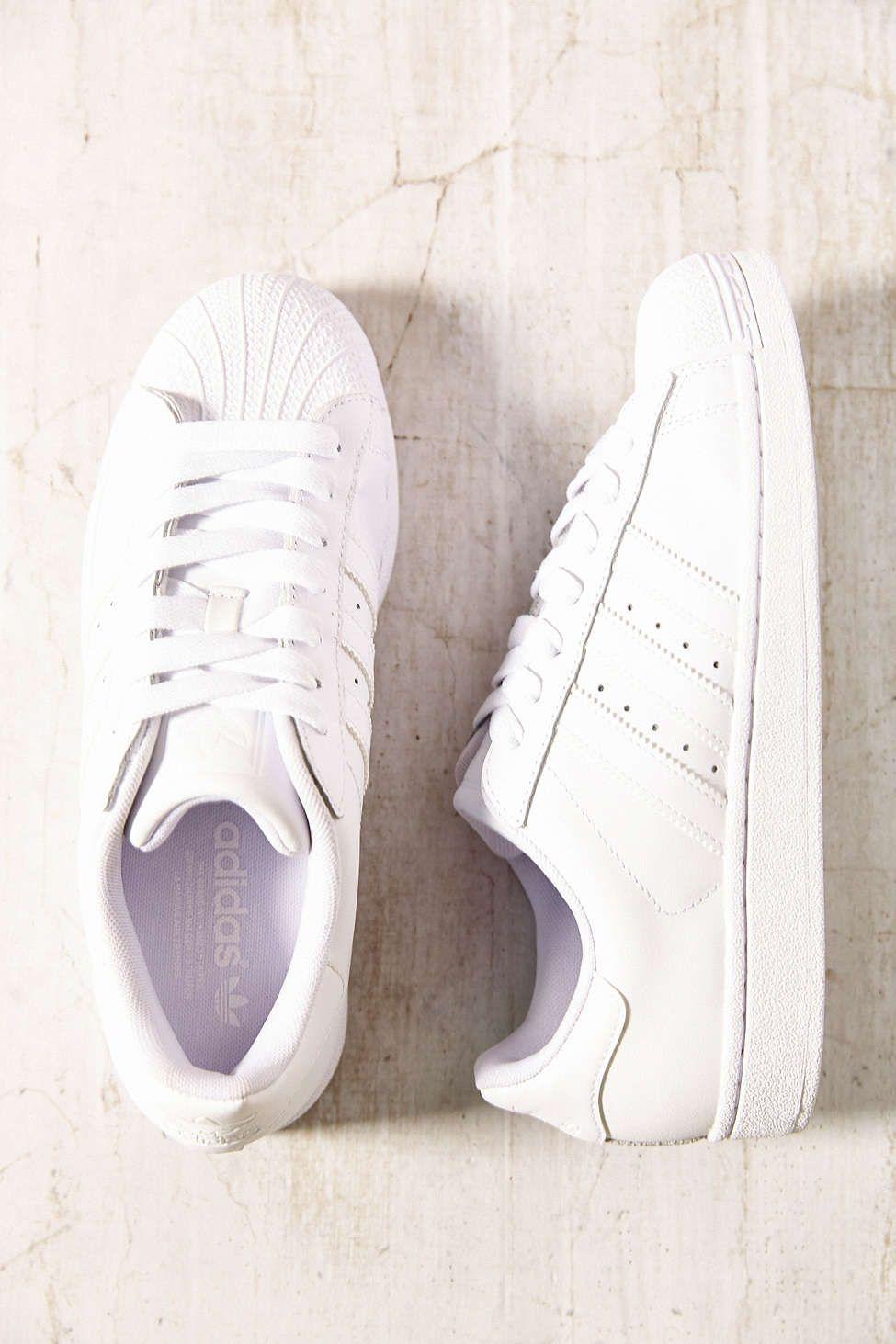 Adidas Superstar High White