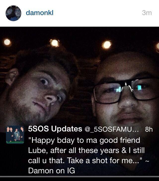 Luke's friend #Happy19thBirthdayLuke