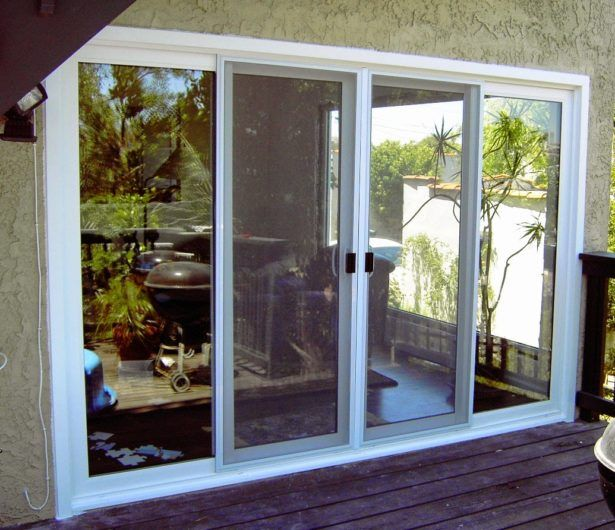 Living Room Patio Doors French Triple Pane Sliding Patio Doors 4