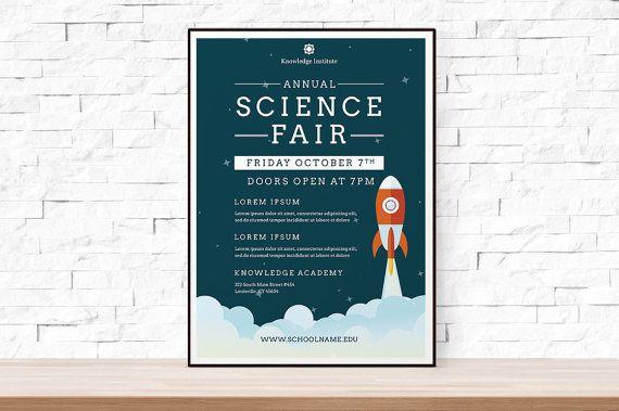 Diy Printable School Science Fair Flyer Template Word Templates Event Scienc