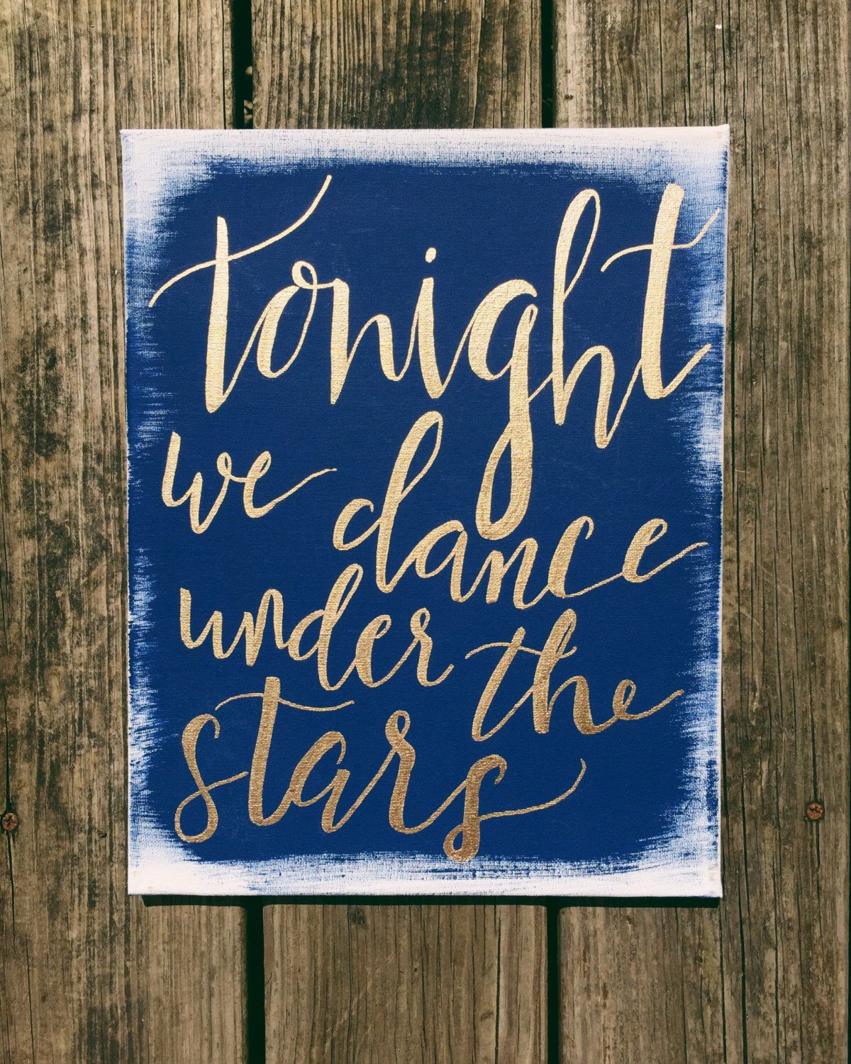 Blue and gold wedding decor  Starry Night Wedding Boho wedding sign Outdoor wedding constellation