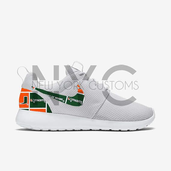 Miami Hurricanes Nike Roshe One Run Custom Men & Women Kids