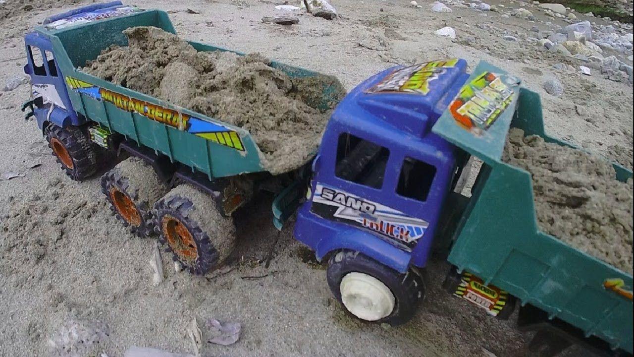 Cara Menggambar Mobil Truk Pasir Dump Truck Truk Mainan Balita Belajar Menggambar