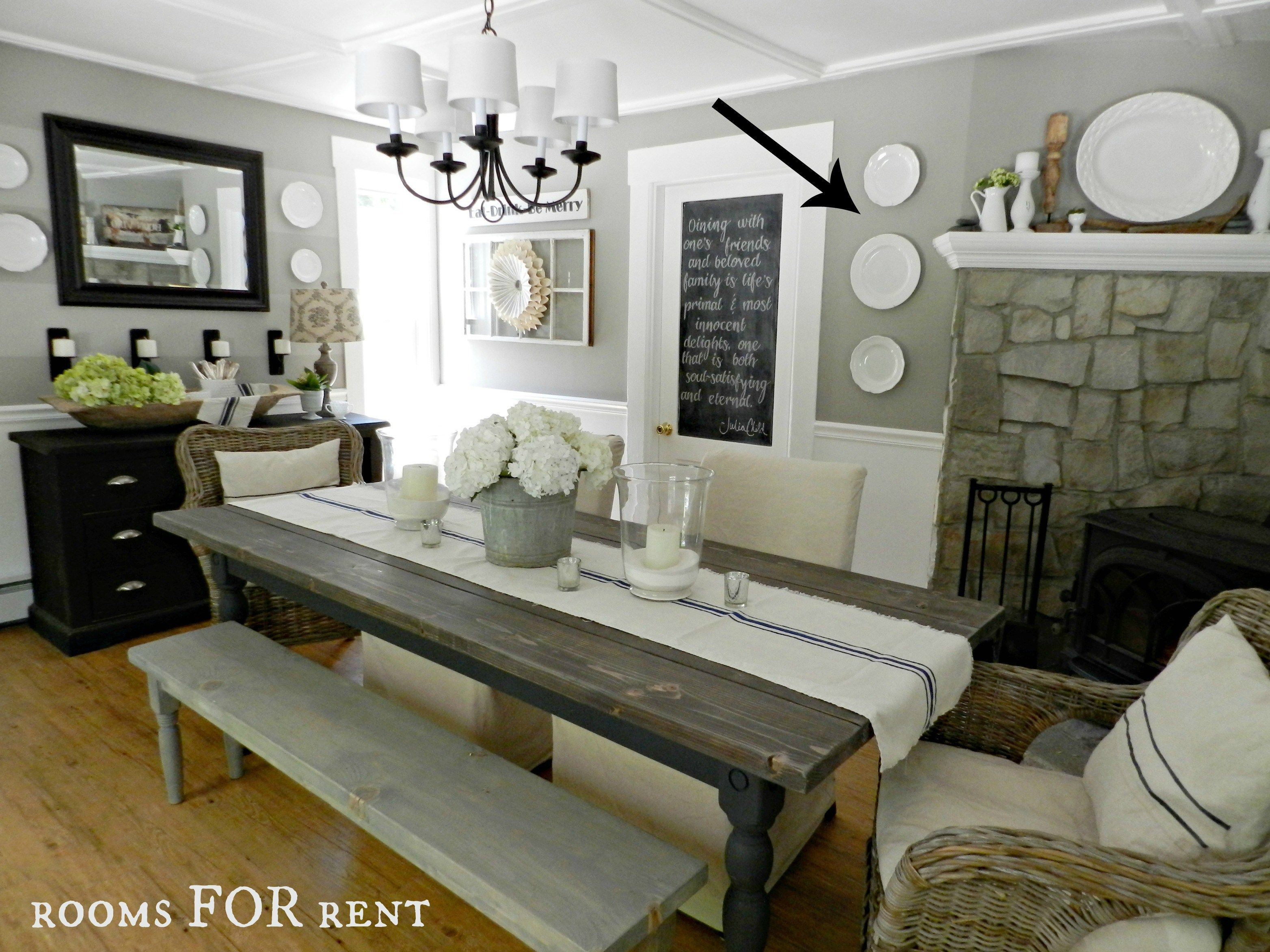 Dining Room Updates A New Chandelier Rooms For Rent