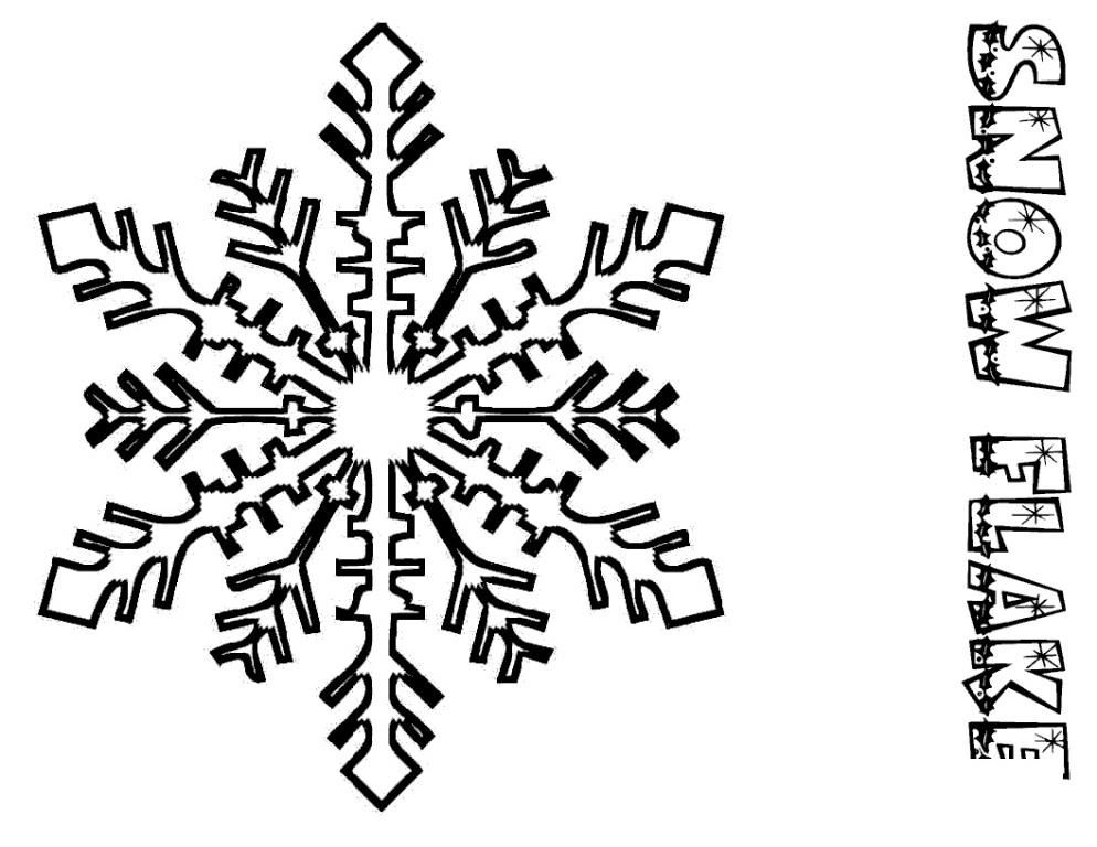 snowflake coloring pages for kids christmas snowflake coloring - Christmas Snowflake Coloring Pages
