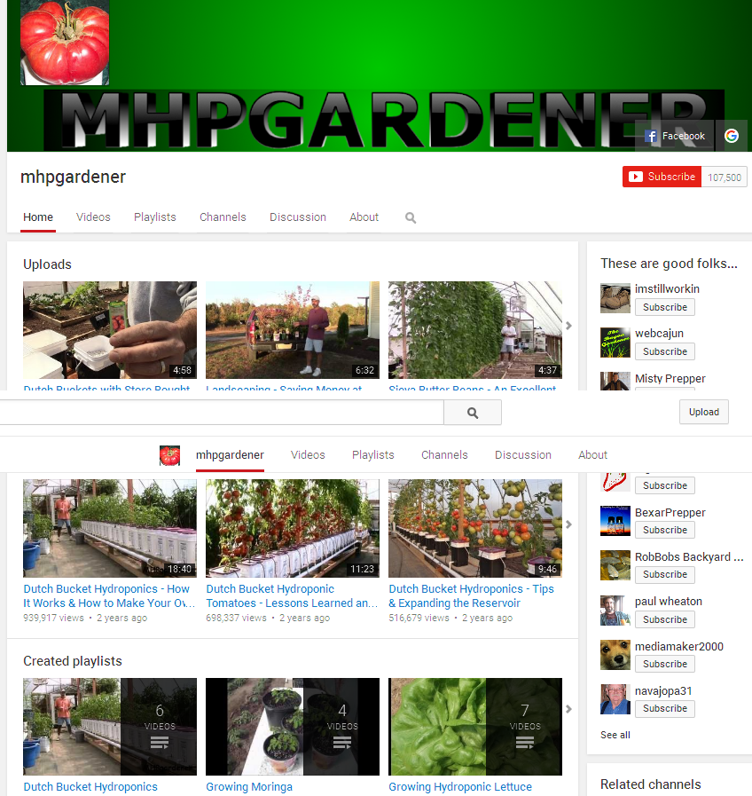 mhpgardener YouTube very cool, affordable, productive