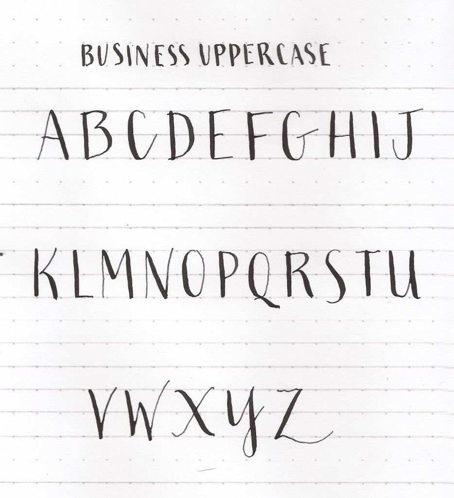Learn uppercase capital letters modern calligraphy