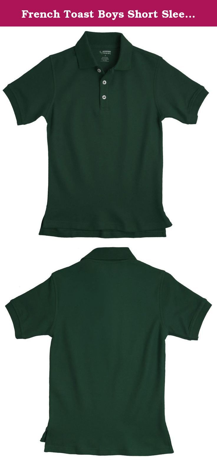d723373b6 French Toast Boys Short Sleeve Pique Polo Hunter Green 4T. This polo shirt  by French