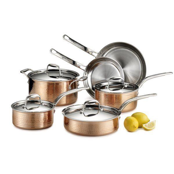 Martellata 10 Piece Copper Cookware Set House Pinterest Kuche