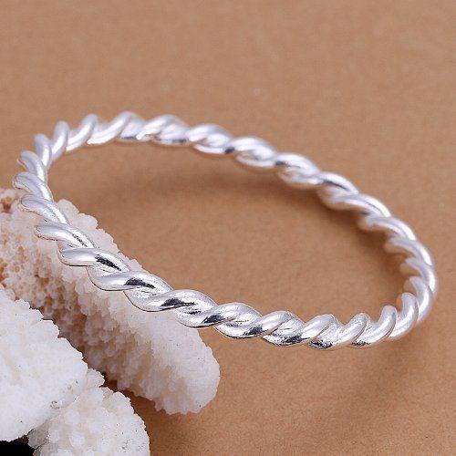 DUMAN Fashion Jewelry 925 Silver Plated Bangle Tw ($10.63)