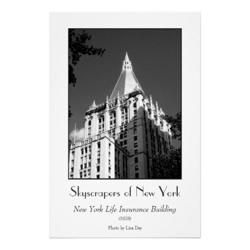 New York Life Insurance Building Poster Zazzle Com New York