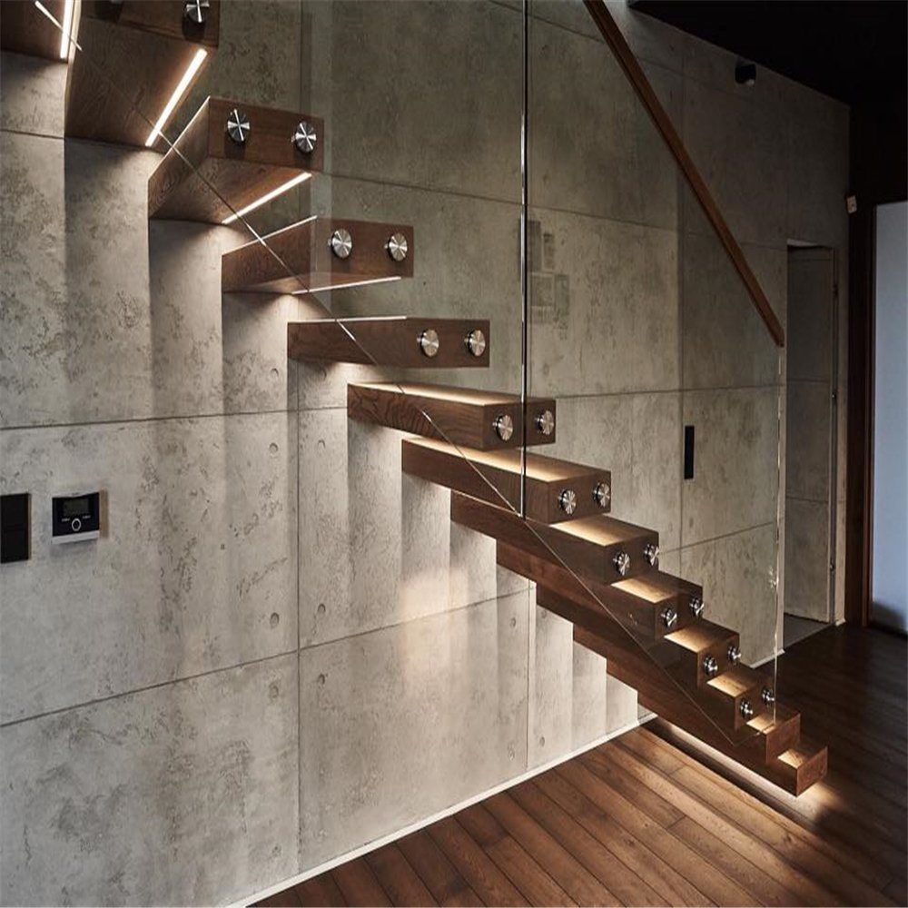 Best Modern Design Floating Staircase With Stainless Steel 400 x 300