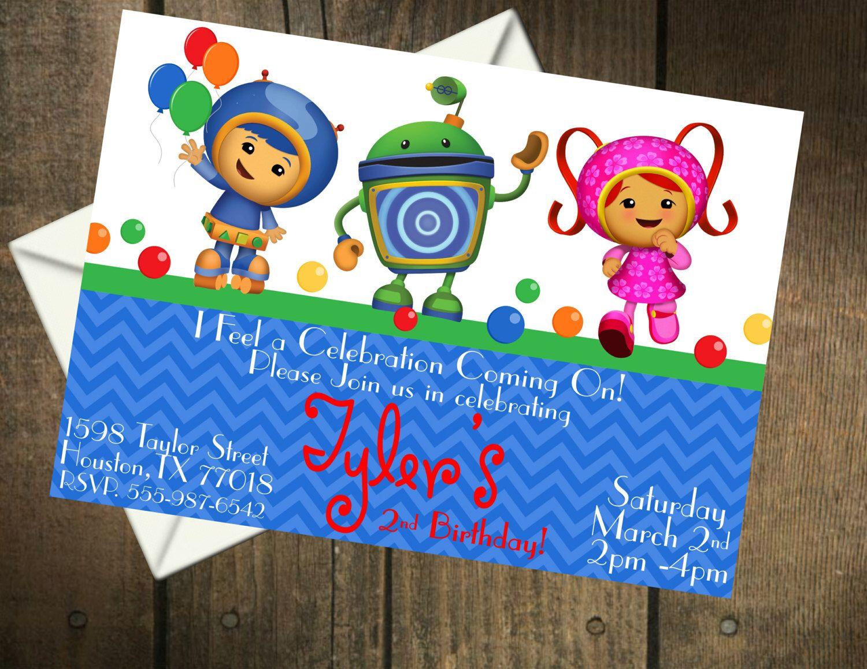 Printable Birthday Stationery Paper ~ Team umizoomi birthday party printable invitation by