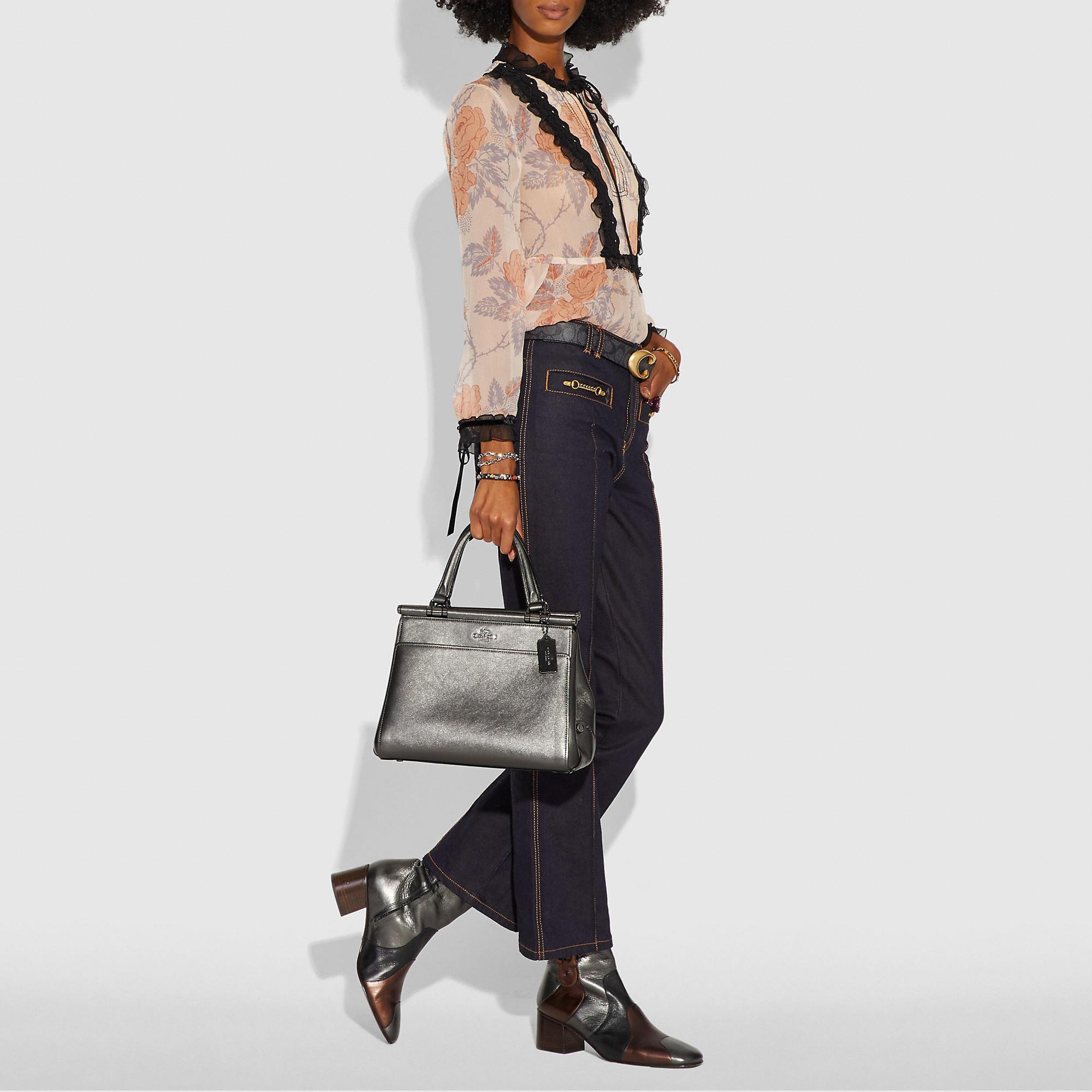 671bdce215ee COACH Grace Bag In Metallic Leather - Women s Handbags