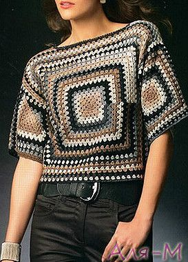 Elegant blouse crochet with step by step ~ Crochet Pattern