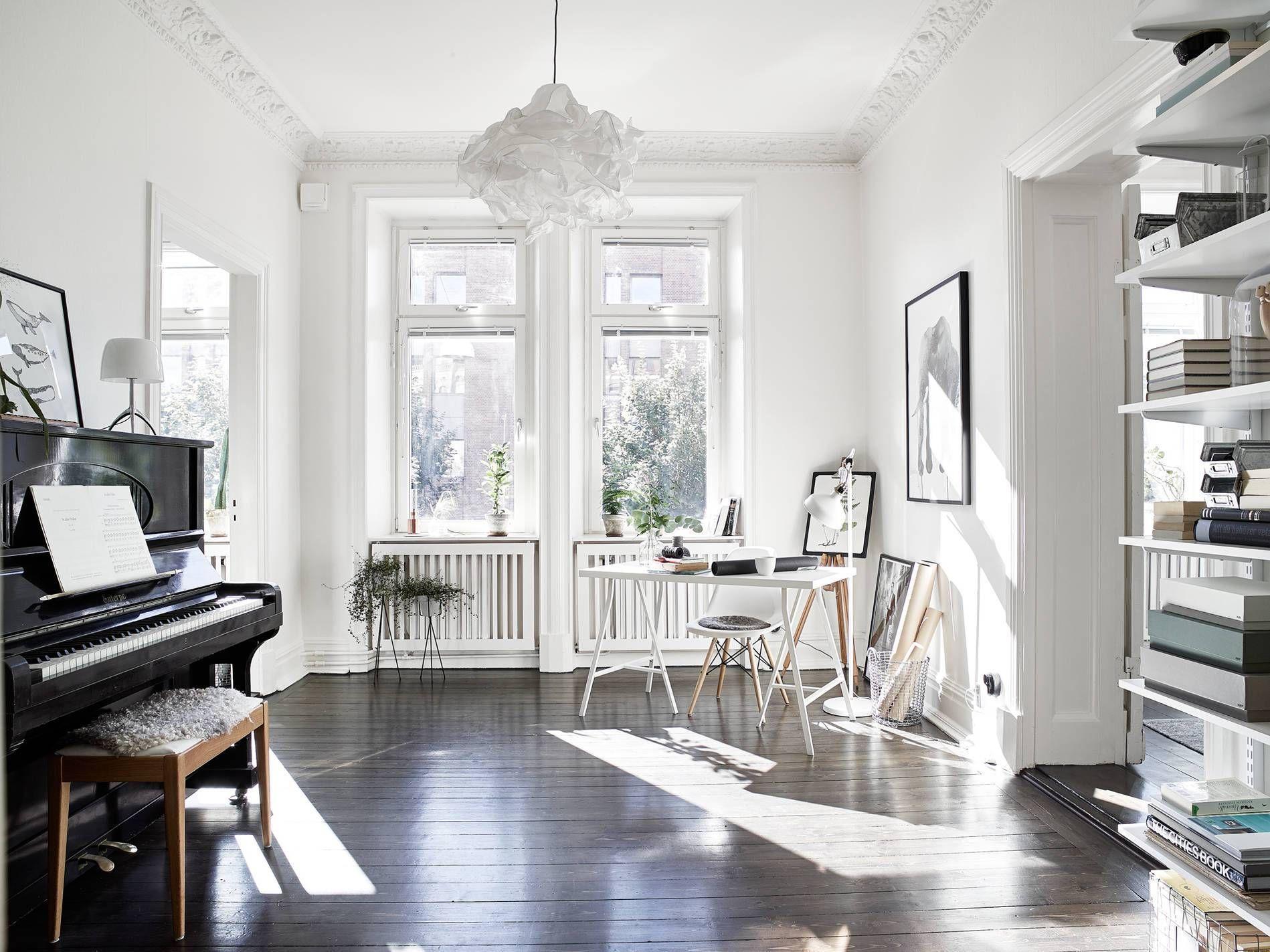 Dark floor treasure Scandinavian home, Home, Swedish house