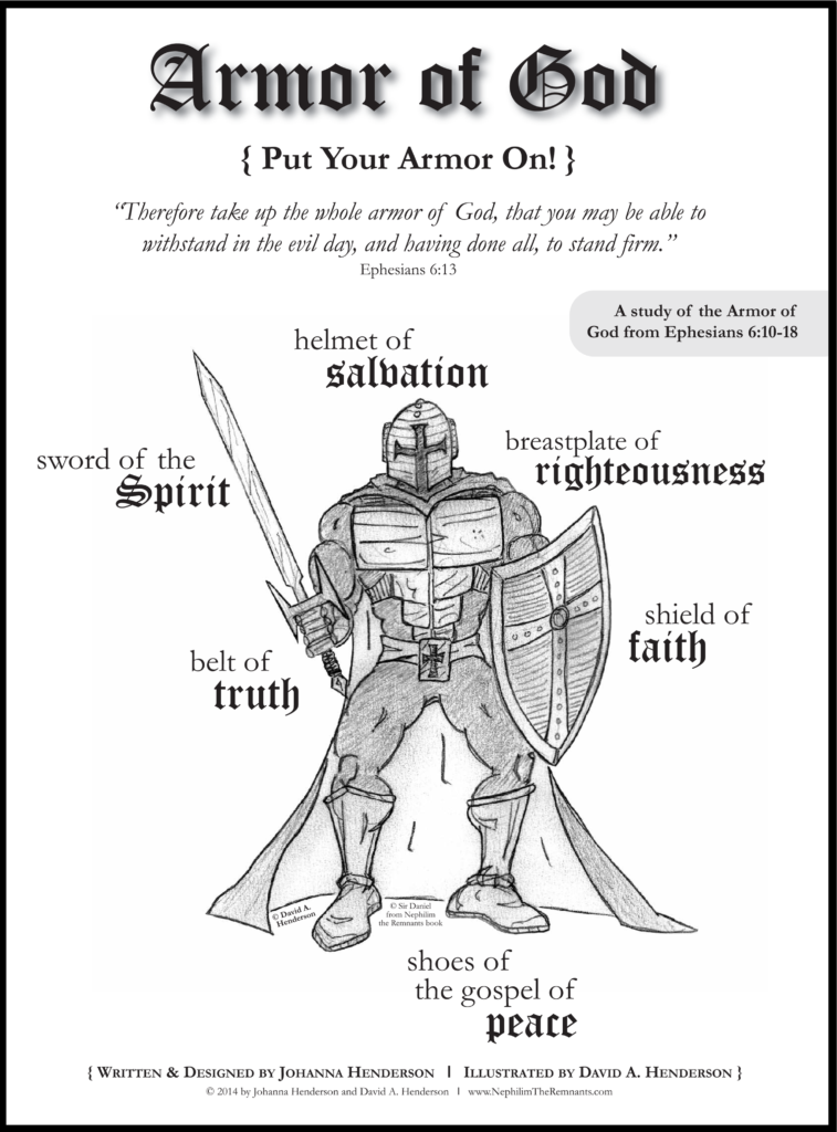Coloring Pages Heavenly Armor Of God For Kids Coloring