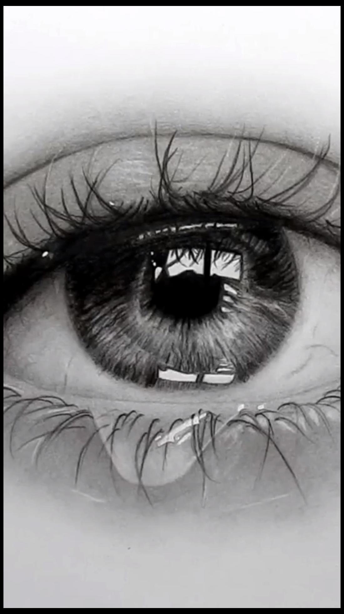 realistic drawings of eyes