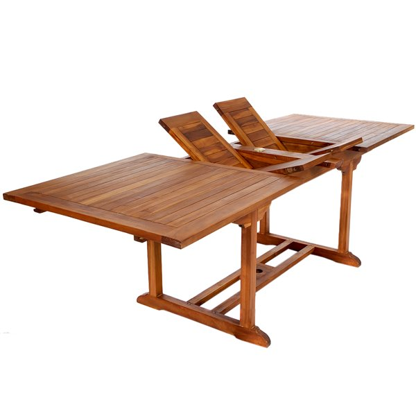 All Things Cedar 36 In X 72 In Rectangle Extenstion Teak Table Patio Dining Table Outdoor Dining Table Teak Table