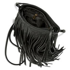 Women s Fringe Crossbody Handbag Black - Mossimo Supply Co  3a53d6d89df09
