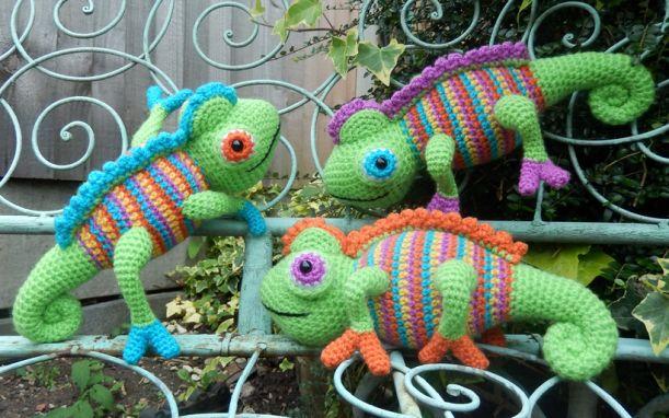 Camelia the Chameleon - Moji-Moji Design   Crochet & Tatting   Pinterest