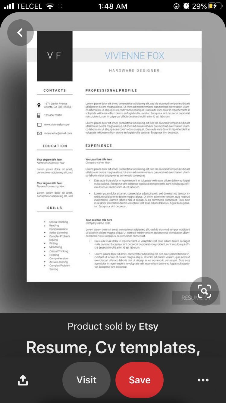 PLEASE HELP ME! I need to found this resume template but I