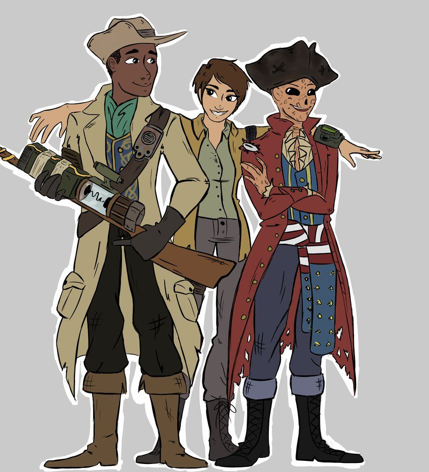 Fallout 4: Hancock, Preston, and Sole by gumwrappings