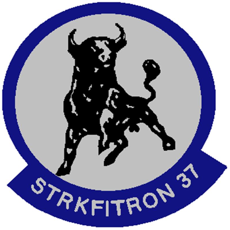 STICKER USN VF 37 BULLS