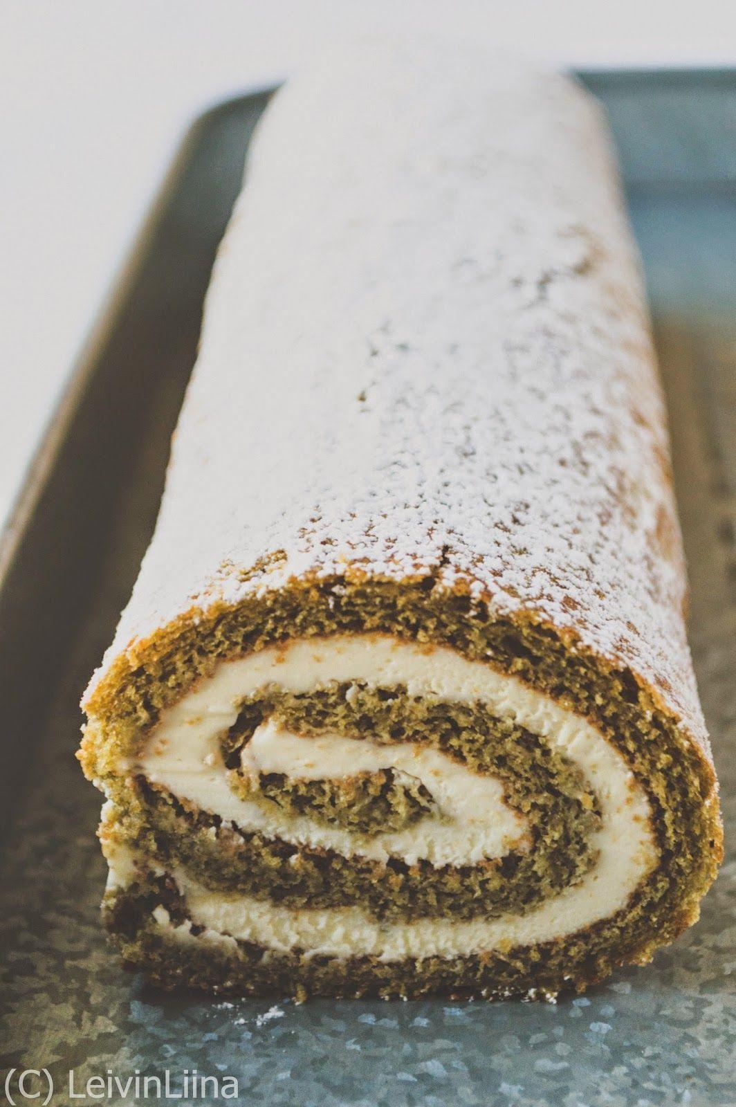 LeivinLiina: Matcha Roll Cake -kääretorttu