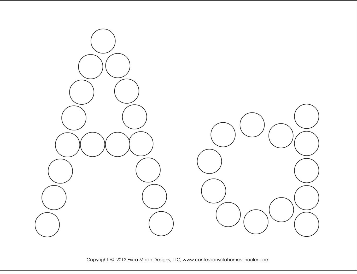 Do A Dot Alphabet Worksheets Free Download