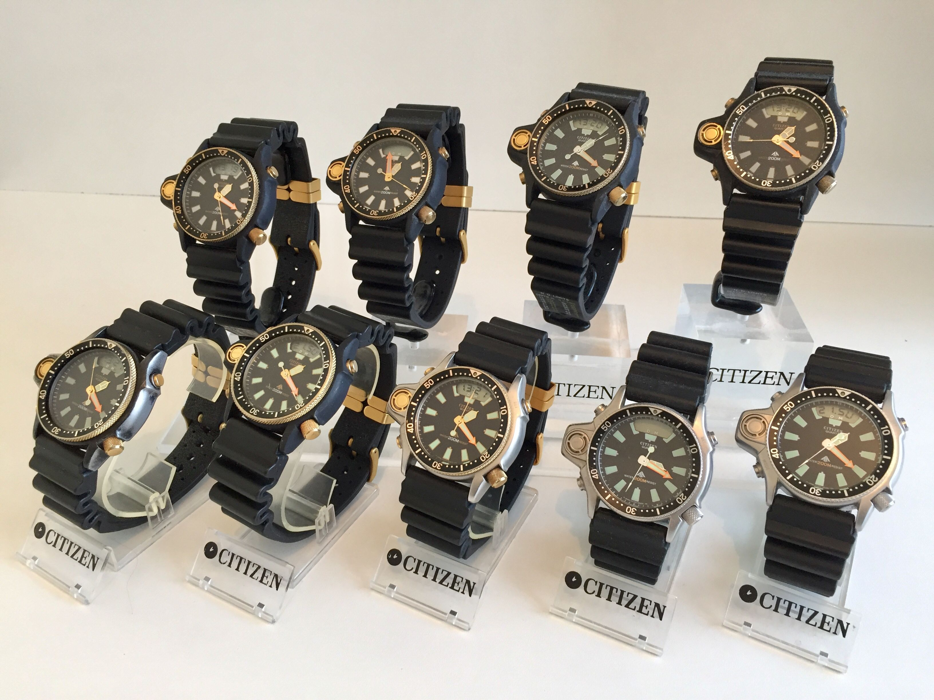 cfbf6c5d044 Nice display of the Citizen Aqualand CO22-CO23-CO26-CO28-CO29 family ...
