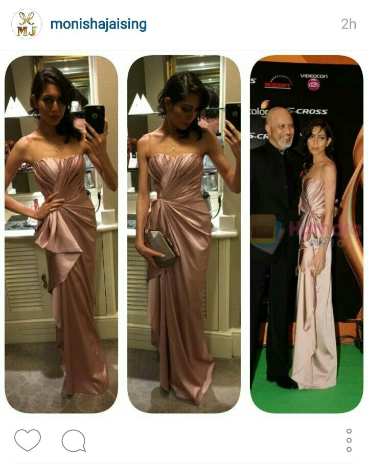 #PhotoGrid #clientdiaries #Couture #iifaweekend #iifaawards #greencarpet @alyssamendonsa in a her #custom #MonishaJaising frosted rose pink gown for @iifaawards @dddthefilm #perfection #gorgeous #flawless