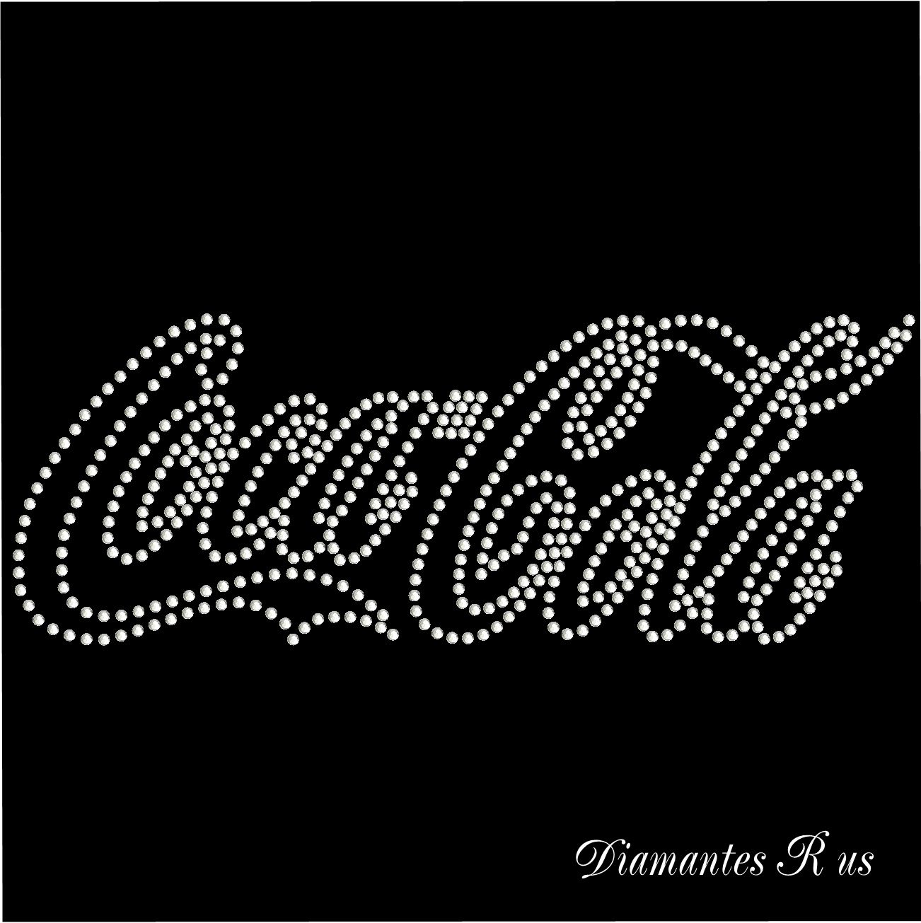 DIY Iron On Coca Cola Rhinestone Transfer COLOUR: Various SIZE: 4 ...