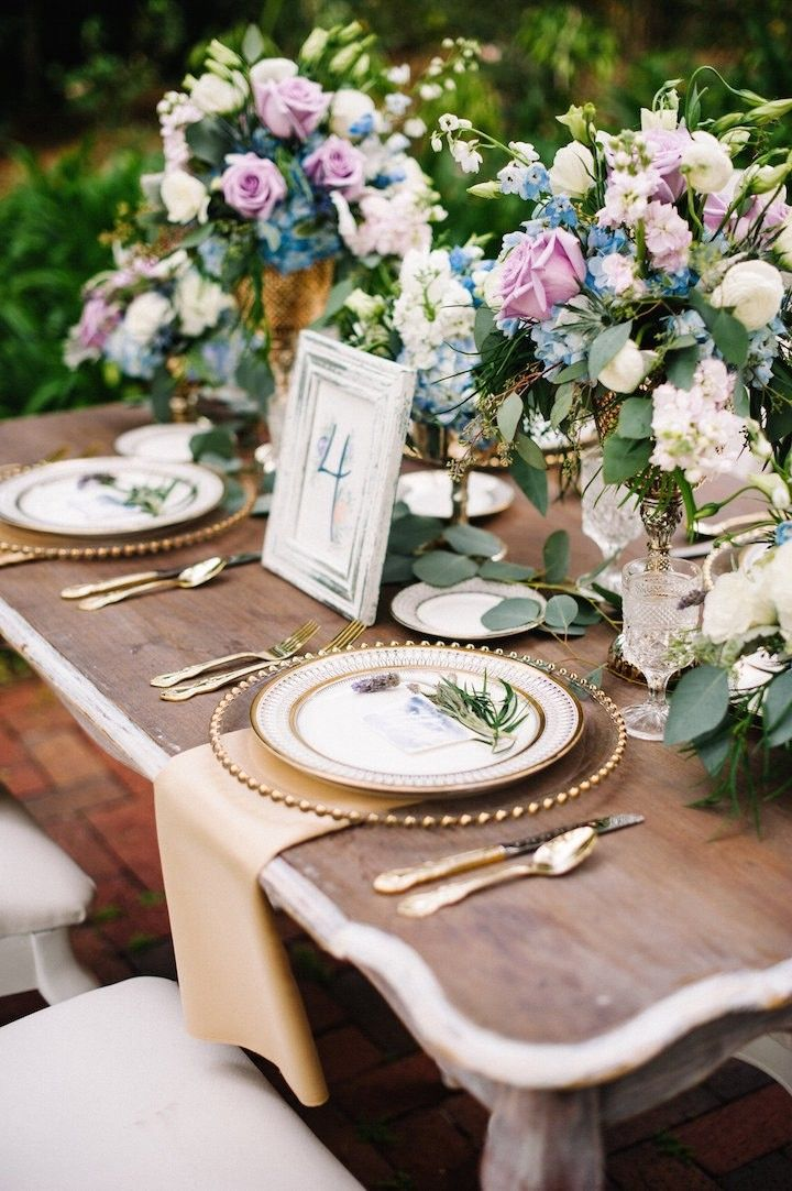 Dusty Blue And Lavender French Wedding Inspired Shoot Wedding
