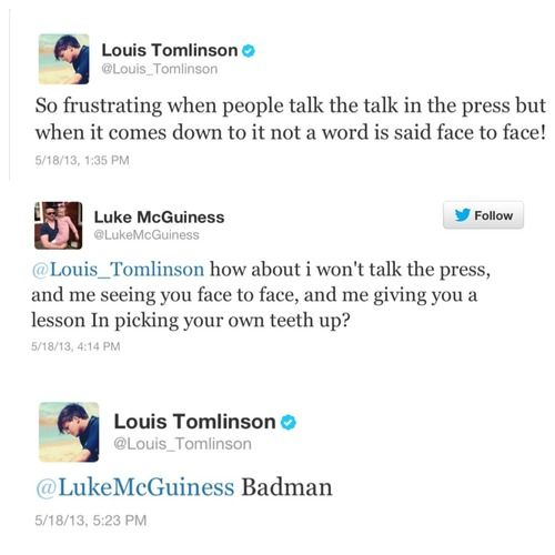 Louis pulling out the sass! What happened to cause this