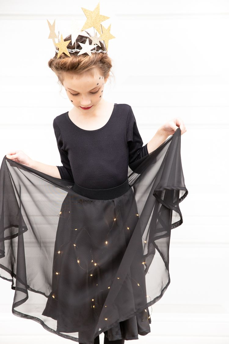 Starry Night Sky Halloween Costume Lighted Skirt Tutorial