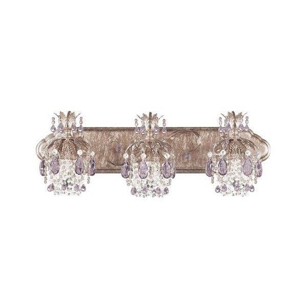 crystal vanity lights for bathroom. Schonbek Rondelle Three Light Vanity  988 Liked On Polyvore Featuring Home Lighting Ceiling Lights Crystal Schonbek Lamps Han