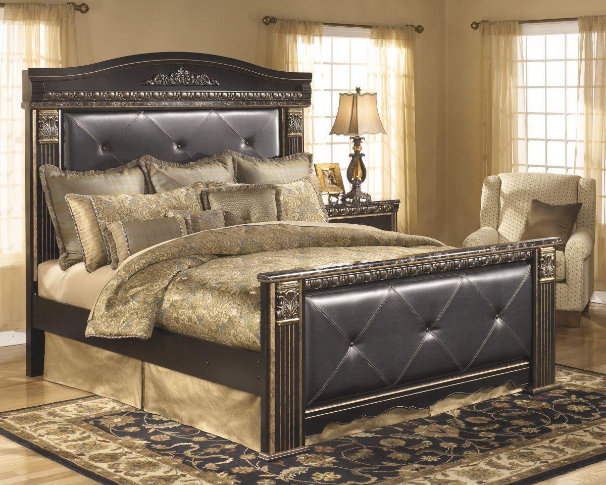 coal creek king size bed  ashley furniture bedroom