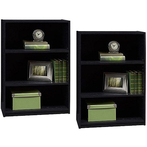Ameriwood 3 Shelf Bookcases Set Of 2 Mix And Match Furniture Walmart