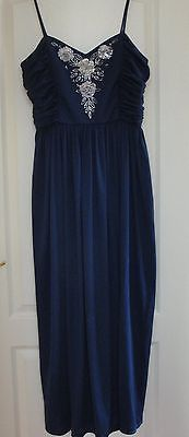 Ladies navy #evening dress #trina lewis & marjon #couture made in london size 16,  View more on the LINK: http://www.zeppy.io/product/gb/2/262711768661/