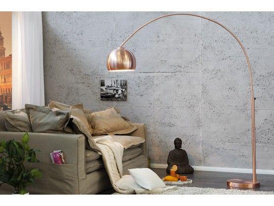 Lampe Arc Ball Xl Cuivr 233 249 Luminaires Luminaire Salon Lampadaire Design Et Lampadaire