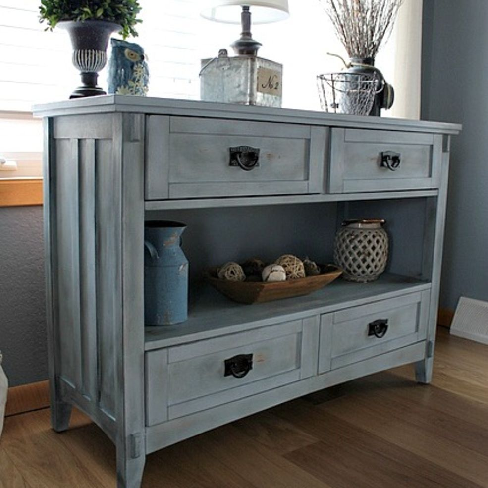 Give chalk painted furniture an aged look with aging cream Images of painted furniture
