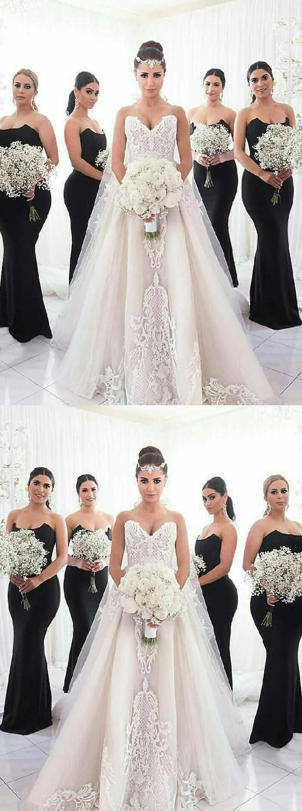 Appealing black mermaid bridesmaid dresses black bridesmaid dresses