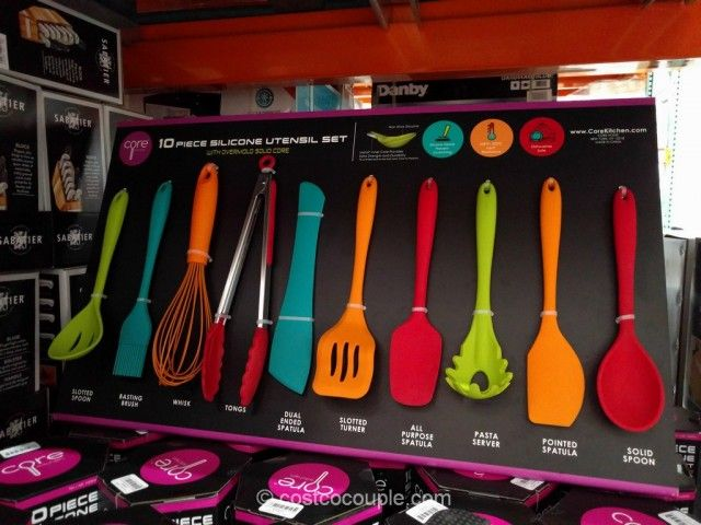 Core Home 10 Piece Silicone Kitchen Utensil Set Costco Silicone Kitchen Utensils Utensil Set Kitchen Utensil Set