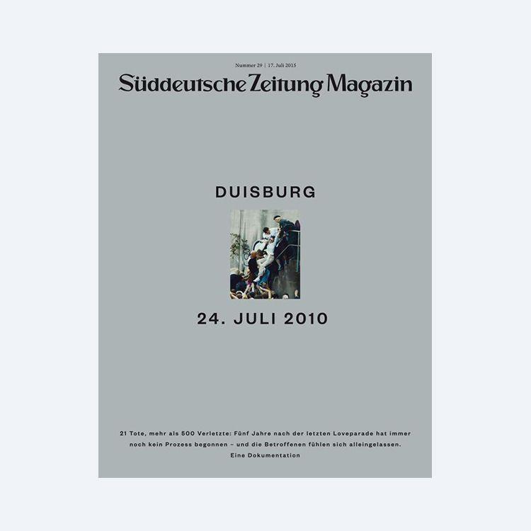 SUDDEUTSCHE ZEITUNG MAGAZINArt Director: Thomas KartsolisDeputy Art Director: Birthe SteinbeckDesigners: David Henne, Daniel Schnitterbaum, Anna Meyer