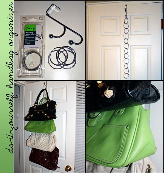 IW: 15 Ideas For Organizing Accessories   Perpetually Daydreaming. Diy  Purse Storage ...
