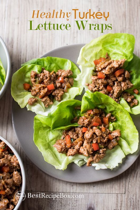 Turkey Lettuce Wraps Recipe, Low Carb Chicken Lettuce Cups ...