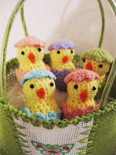 Free How Hatching Easter Chicks Crochet Pattern Amigurumi