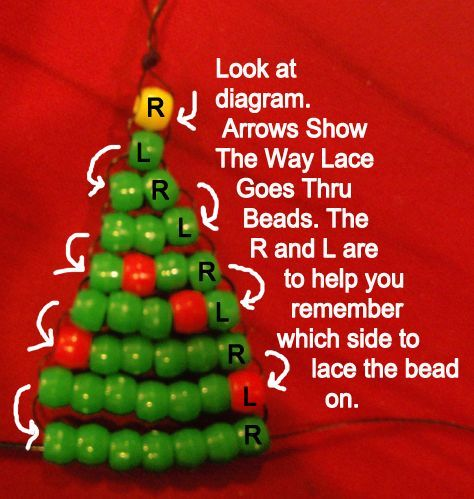 How to Make a Pony Bead Christmas Tree Ornament « Beads « Crafts With «  Kids Crafts & Activities - How To Make A Pony Bead Christmas Tree Ornament « Beads « Crafts