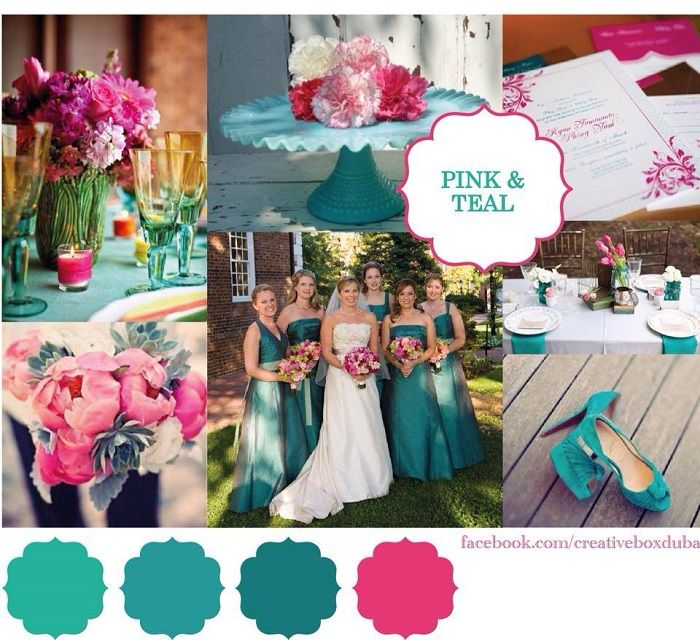 Hot Pink Teal Wedding Colour Scheme Bride Club Me S Pick Of